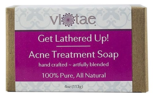 Price comparison product image Vi-Tae 100% Natural and Organic Handmade 'Get Lathered Up' 4oz Soap Bars (Acne Treatment, 1 pack)