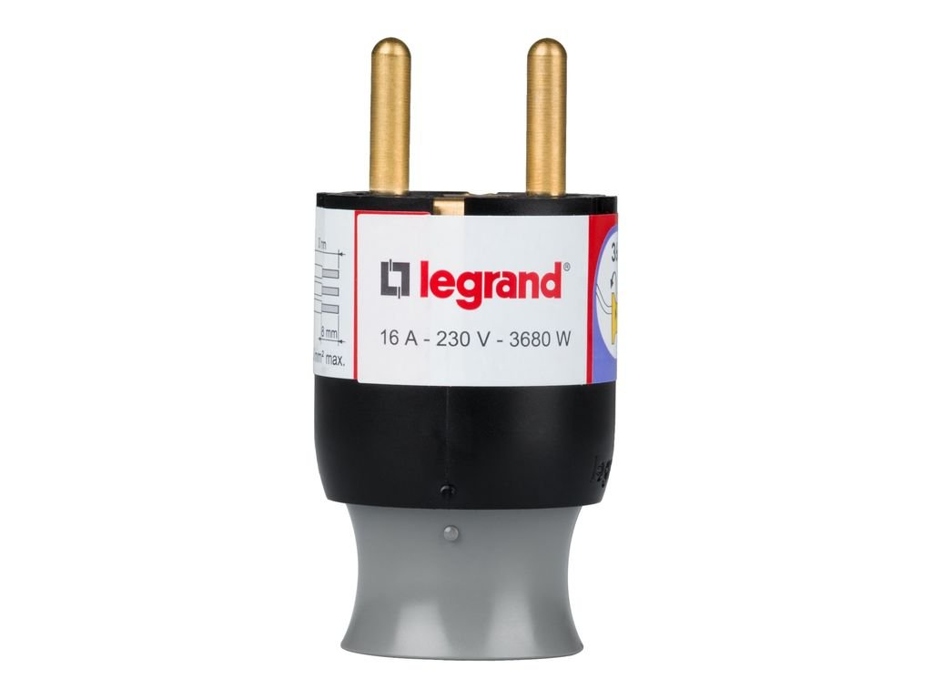Legrand LEG50175 Fiche m/âle 2P T 16 A extraction facilit/ée