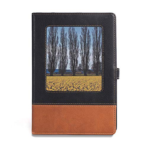 (Vintage Writing Notebook Diary,Americana Landscape Decor,A5(6.1