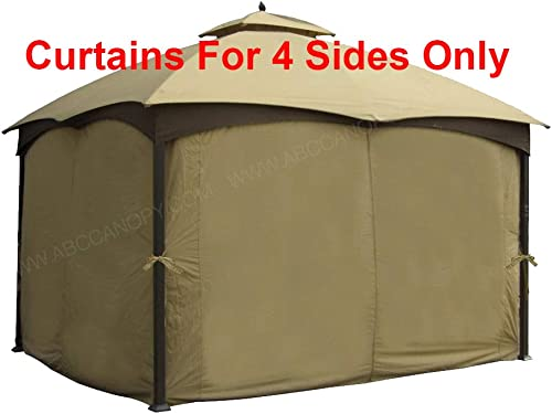 ABCCANOPY 10 x 12 Gazebo Universal Privacy Curtain Set Protecting Side Wall