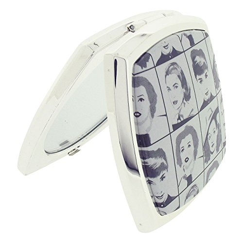 Stratton Compact Mirror Ladies Heritage Collection 3X Magnification Double Pocket Mirror (Diva Square) ()