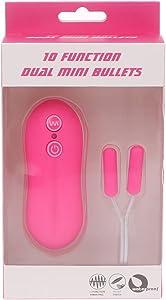 MEIXIU Whisper Quiet 10 Function Dǔǎl Mini Bǔllěts Vǐbrǎtor G-Spǒt Stímǔlǎte Jǔmp Ěg-g Halloween Gift