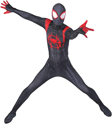Into the Spider-Verse Miles Morales Cosplay Full Size Adult Shoes Spider-Man