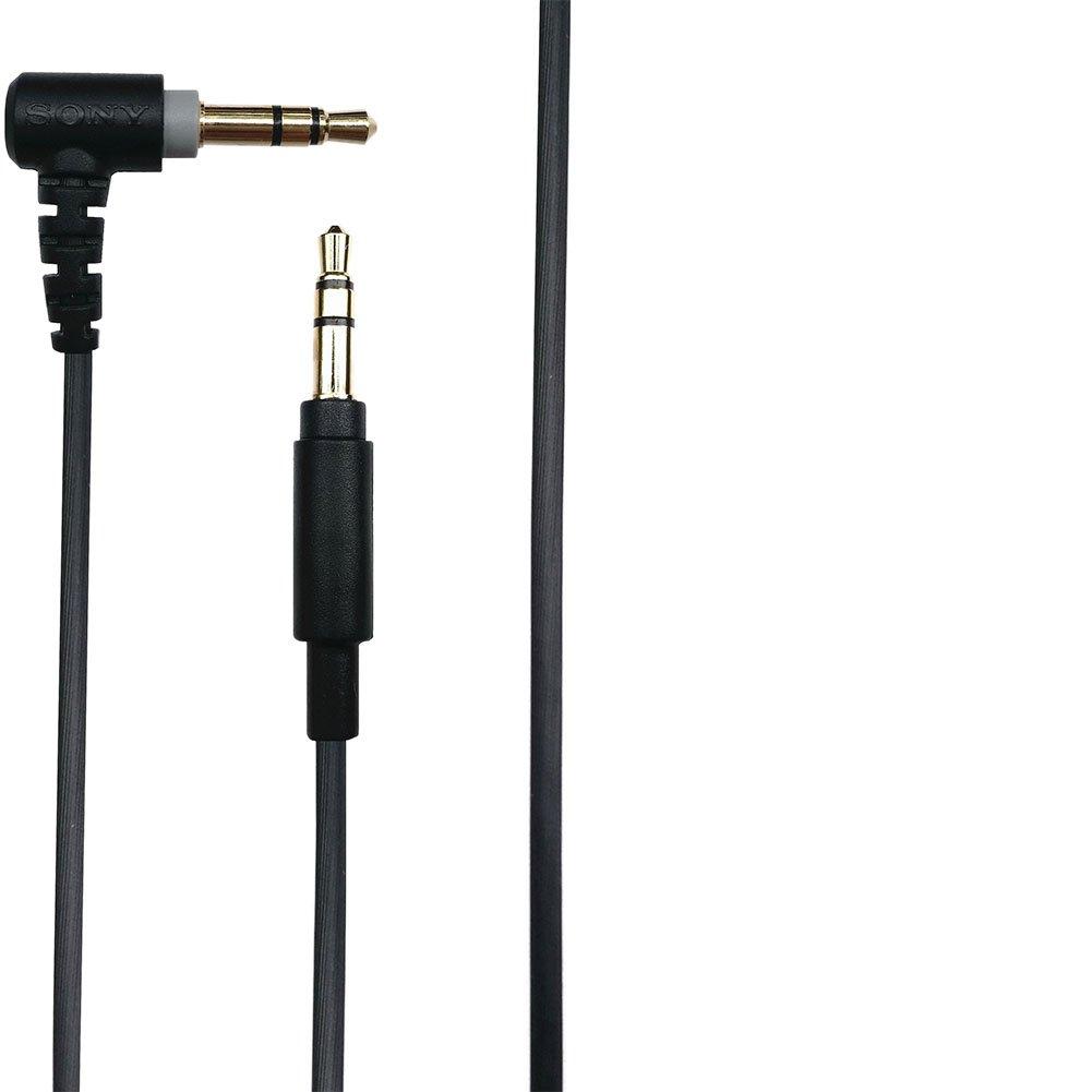 Meijunter Cable Audio de Rechange pour SONY MDR-100ABN//MDR-XB950N1//MDR-1A//MDR-XB950BT//MDR-1ADAC//WH-H900N//WH-H800,Cable Jack Audio 3.5mm St/ér/éo Aux Cordon 3.5mm-Noir