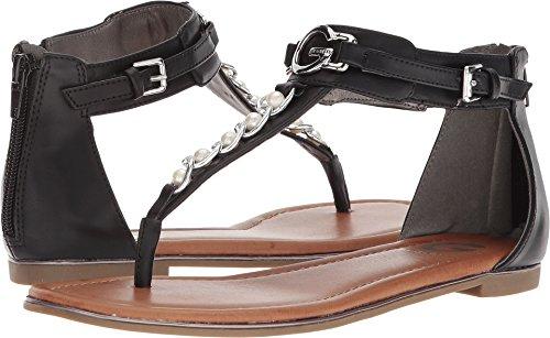 Zippered Women Sandals - G by GUESS Women's Direck Black 7.5 M US