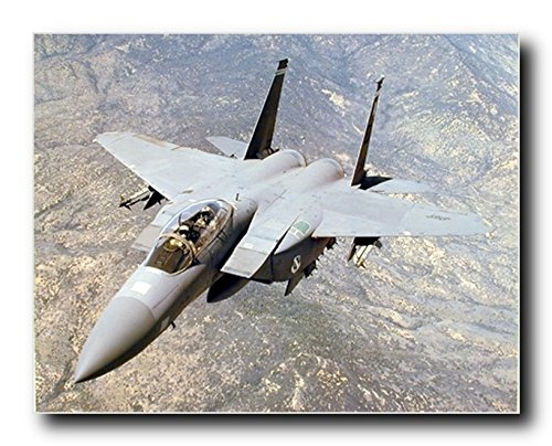 F-15E Dual Role Strike Eagle Military Jet Art Print Poster (16x20) ()