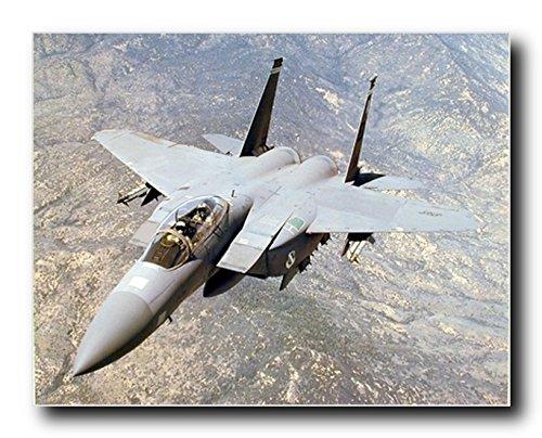 Aviation Wall Decor F-15E Dual Role Strike Eagle Military Jet Art Print Poster (16x20)