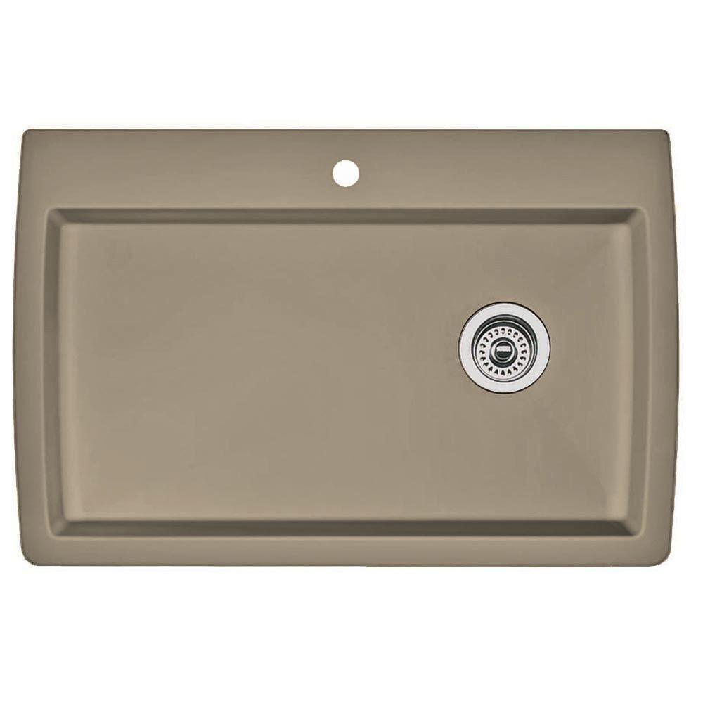 Granite Single Bowl Kitchen Sink Blanco 441287 diamond single basin drop in granite kitchen sink blanco 441287 diamond single basin drop in granite kitchen sink truffle single bowl sinks amazon workwithnaturefo