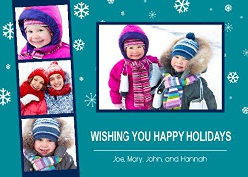 Customizable 5 X 7 Holiday Photo Greeting Card - Winter Wonderland (10 Qty.)