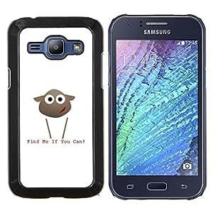 LECELL--Funda protectora / Cubierta / Piel For Samsung Galaxy J1 J100 -- Encuéntrame si puedes Lamb --