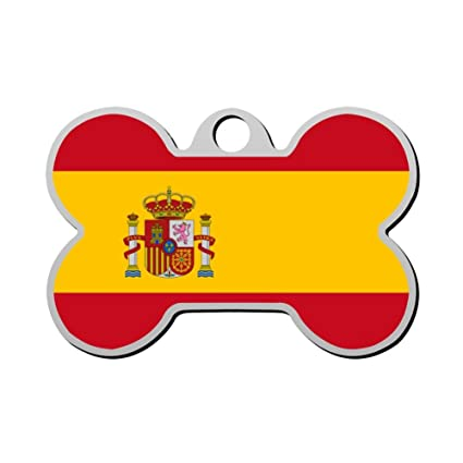 1f7d017ff0050 Amazon.com : haopengyou Custom Spanish flag Pet ID Tag for Dog ...