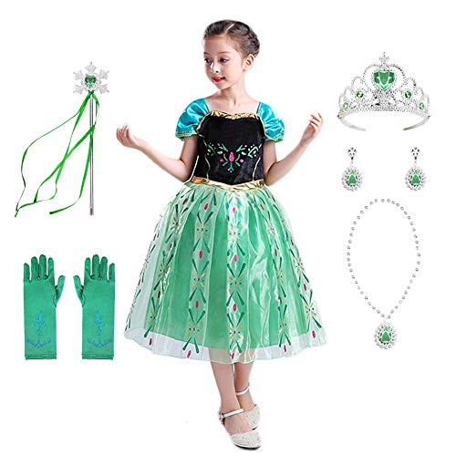 Gherorner Anna Princess Dress for Little Girls