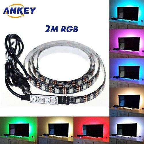 19 opinioni per ANKEY TV LED posteriore di illuminazione Kit, 200 centimetri 5V Striscia USB RGB