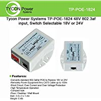 Tycon Power TP-POE-1824 Converter PoE 802.3af/at, output 12W, 18/24VDC