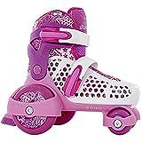 SFR Stomper Adjustable Junior Girl's Skates - White/Pink UK 10 - 13