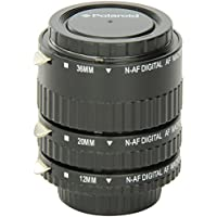 Polaroid Auto Focus DG Macro Extension Tube Set (12mm, 20mm, 36mm) For Nikon Digital SLR Cameras