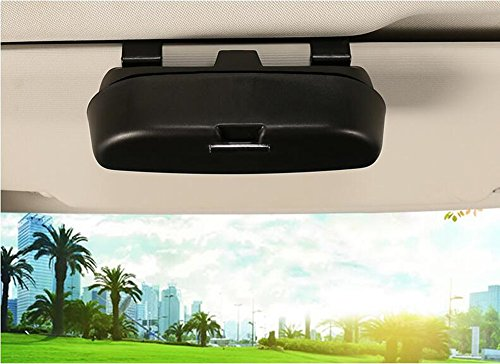 HOLDCY Car Sun Visor Glasses Case Clip - Eye Sunglasses Storage Holder Box - Automotive Accessories ABS 1Pcs Apply to All Car Models (Black)