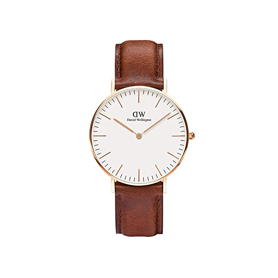 645201dfa Daniel Wellington - Reloj analógico para mujer de cuero, color marrón:  Amazon.es: Relojes