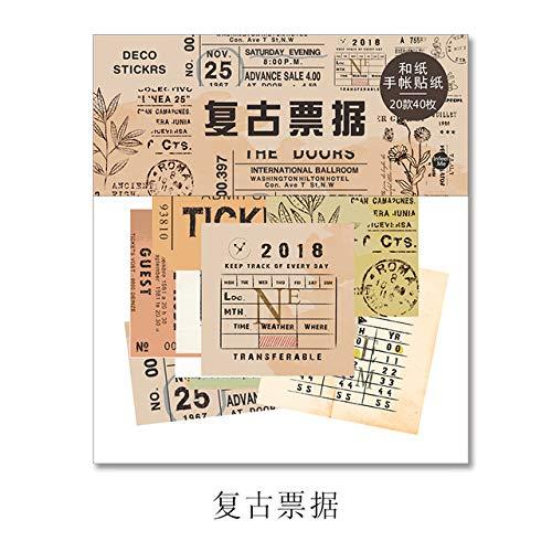 - Sala-Houseware - European Style Retro City Decorative Washi Stickers Scrapbooking Stick Label Diary Stationery Album Stickers