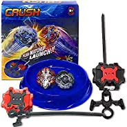 Crush Battling Burst Game Tops Starter Set (1 Small Arena + 2 Launchers Included + 2 Spin Burst Tops) B-85 Kil