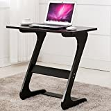 Easeurlife Side End Table TV Snack Trays Sofa Side Table Z Shaped Desk (Elegant Black)