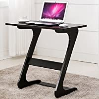 Easeurlife Side End Table TV Snack Trays Sofa Side Table Z Shaped Desk (Elegant Black)