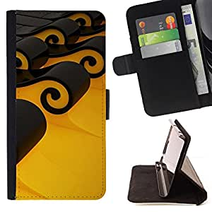 Jordan Colourful Shop - Design Black Waves For Apple Iphone 4 / 4S - Leather Case Absorci???¡¯???€????€??????????&f