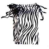 12 PC Eyewear Eyeglass Microfiber Soft Cleaning Cloth Bag Pouch Case ZEBRA