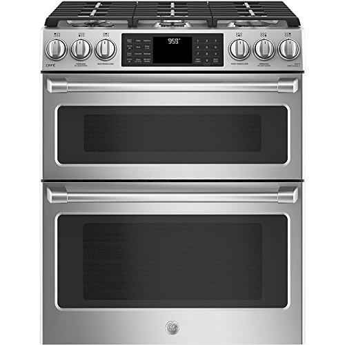GE Cafe CGS995SELSS 30 Inch Slide-in Gas Range with Sealed Burner Cooktop, 6.7 cu. ft. Primary Oven Capacity in Stainless - 30 Range Gas Professional
