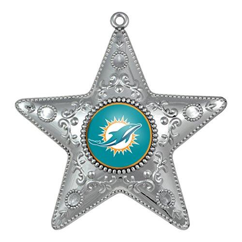 NFL Miami Dolphins Star Ornament Silver