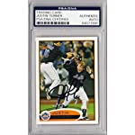 Justin Turner Signed Authen Slabbed 2012 Topps Card SB4 - PSA/DNA Certified.