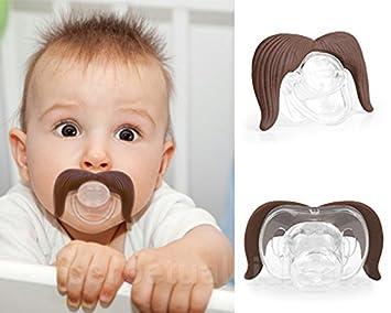 Amazon.com: Bonito bebé chupete pezones de barba bigote ...
