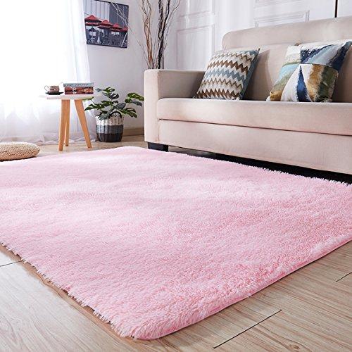 PAGISOFE Soft Girls Room Rug Baby Nursery Decor Kids Room Carpet 4' x 5.3',Pink from PAGISOFE