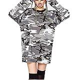 JIGAE Autumn Women Fashion Casual Camouflage Print Street Hip Hop Style Sweater