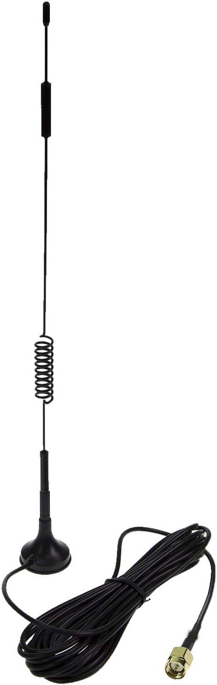 Eessley 12dBi Antena omnidireccional de Alta Ganancia SMA Macho, 700 MHz-2700 MHz Banda Ancha 2,4 GHz WCDMA 3G 4G LTE gsm Antena magnética Cable de 10 ...
