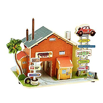 Buy FairOnly 3D Wood Puzzle for Children House Building