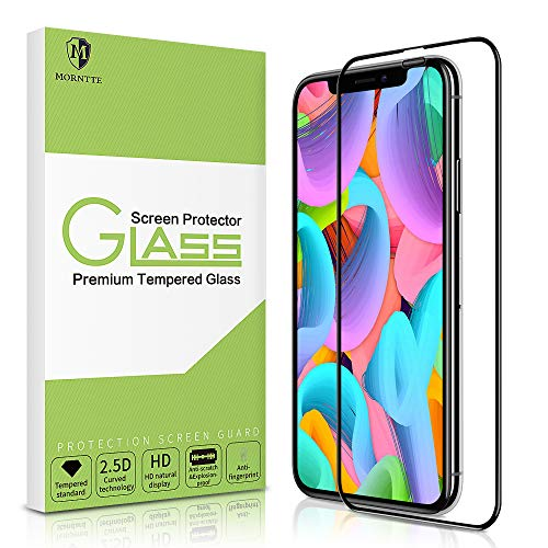 iPhone X Screen Protector-MORNTTE iPhone Xs-5.8 Tempered Glass with 3D Touch Case Protective Screen Protector for Apple iPhone 10,iPhone X,iPhone Xs-5.8
