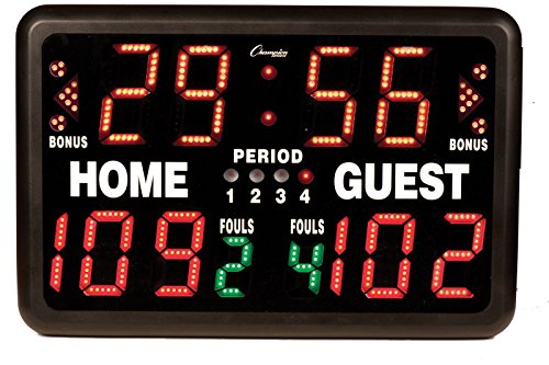 Multi-Sport Tabletop Indoor Electronic Scoreboard with Remote Control Included
