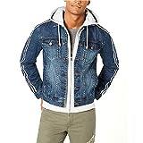 American Rag Men's Layered Hoodie & Denim Jacket Tsunami Wash Large