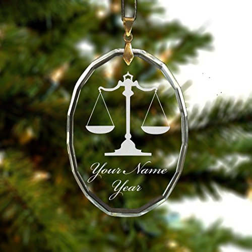 Oval Crystal Christmas Ornament Personalized product image
