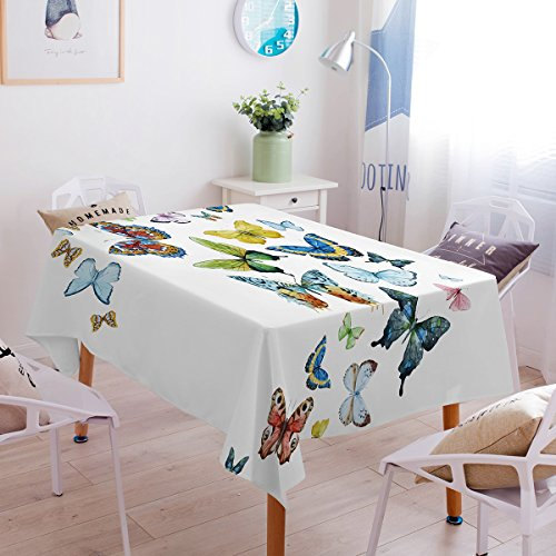 Sleepwish Hippie Butterfly Tablecloth Flying Butterfly Collection Washable Table Cover Decorative Table Cloth (Rectangle/Oblong, 40 x 55Inch)]()