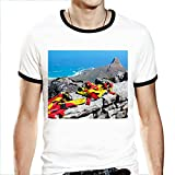 FullWe Mens T-Shirt South Africa Table Mountain Abseil Tee Shirt Size XXL White