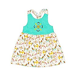 Origany Little Girls' Merry-Go-Round Spaghetti Strap Dress