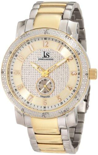 Joshua & Sons Men's JS-20-TT Stainless Steel Diamond Bracelet Watch