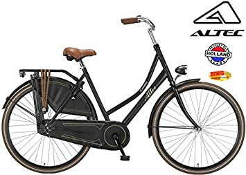Bicicleta holandesa para mujer Altec 28 pulgadas negro mate 52 cm ...