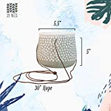 3 Pack Hanging Planter for Indoor Plants | White
