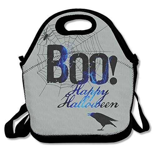 FEAIYEA Boo Happy Halloween Free Printable Lunch Bag Picnic Lunch Tote Bag Insulated Waterproof For Women, Adults, Kids, And -
