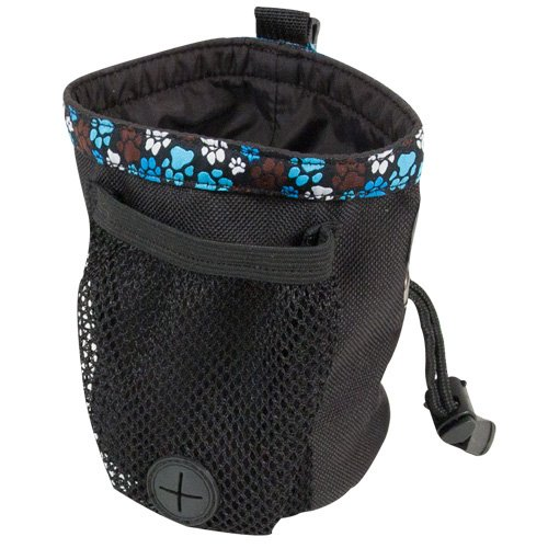 (Rc Pet Products Dog Snack Caddie, Black With Pitter Patter Chocolate Pattern)
