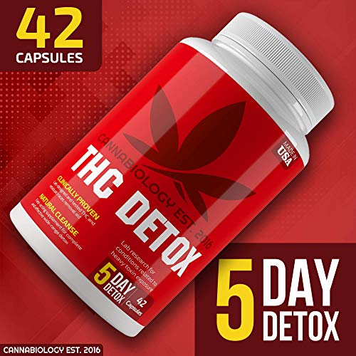 THC Detox Made in USA - BIO-Cleanse - Liver Detox, Urinary Tract & Kidney Cleanse - 5 Day Detox - Broad-Spectrum Toxin Cleanse - Natural THC Remover - Milk Thistle, Cranberry - Vegetarian Capsules by Cannabiology Est. 2016 (Image #1)