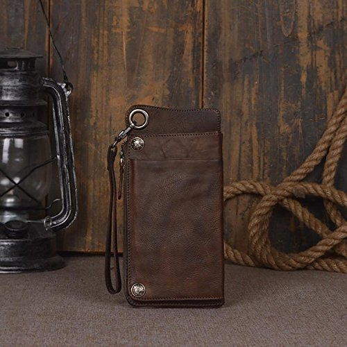 Handmade Genuine Leather Wallet Unisex Long Wallet Money Purse Card Holder iphone by Jellybean Gorilla